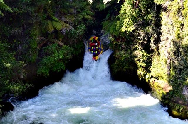 Raftovanie vodopádov na rieke Kaituna