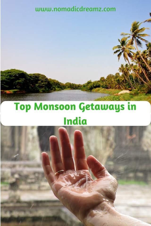 "Monsoon Getaways in India: Ideas for Your Next Trip July and August in India bring rain and the time for monsoon getaways. Travel during the rainy season in India has its pros and cons. On a trip during this season one needs to be prepared for a more leisurely vacation, since sightseeing would become weather dependent. However, there is a lot to be said in favour of quiet monsoon getaways where one can just kick back and relax, without the pressure of ticking off ""must do's"". Enjoy the weather and simple pleasures like walks in the rain, endless cups of tea and conversations with your loved ones."