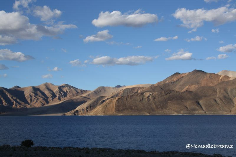 Pangong lake around sunset