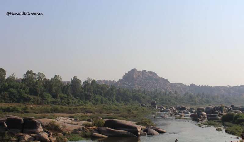 Tungabhadra river at Hampi