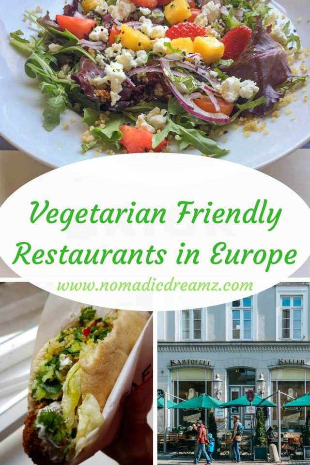 Suggestions for #eating-out in various #destinations in #Europe when you are #vegetarian or #vegan. #Veggie-friendly #restaurants and #resources