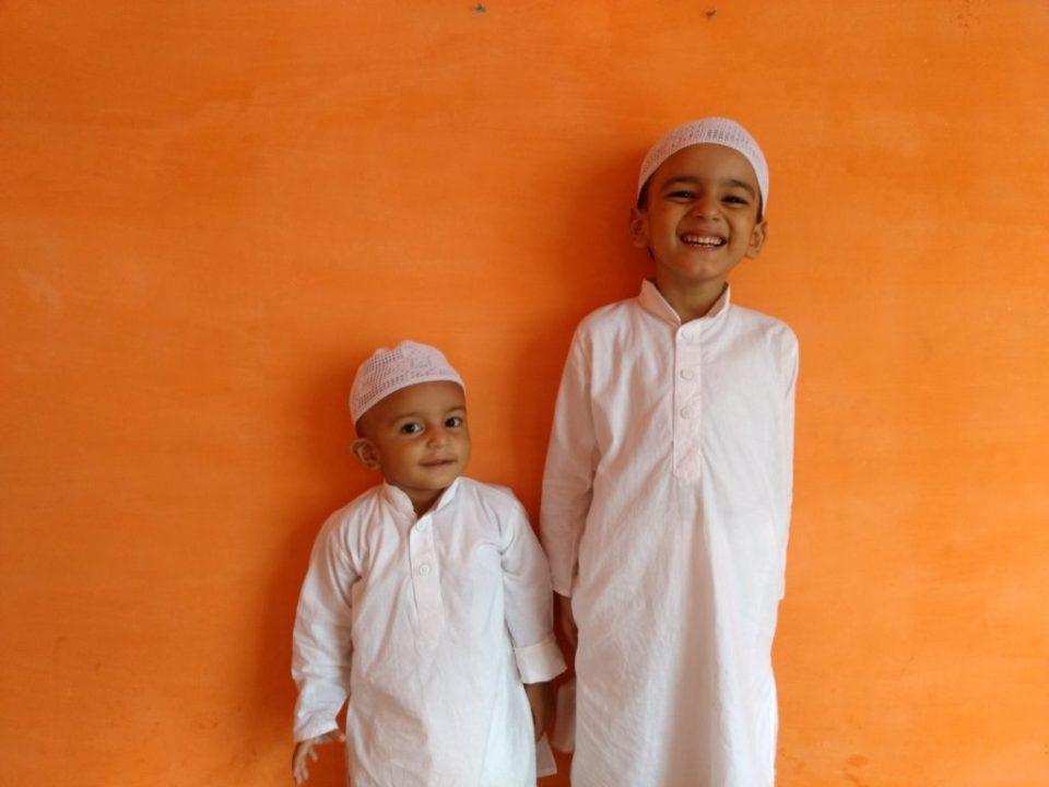 Kids in Traditional Kurta Pajama on Eid