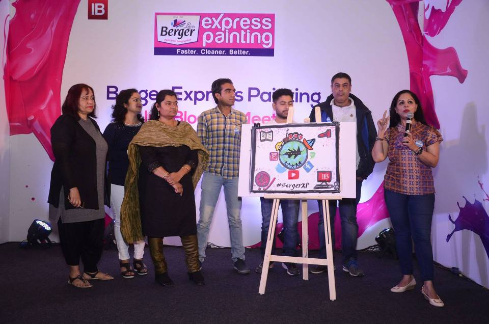 Indiblogger Meet With Berger Express Painting Delhi