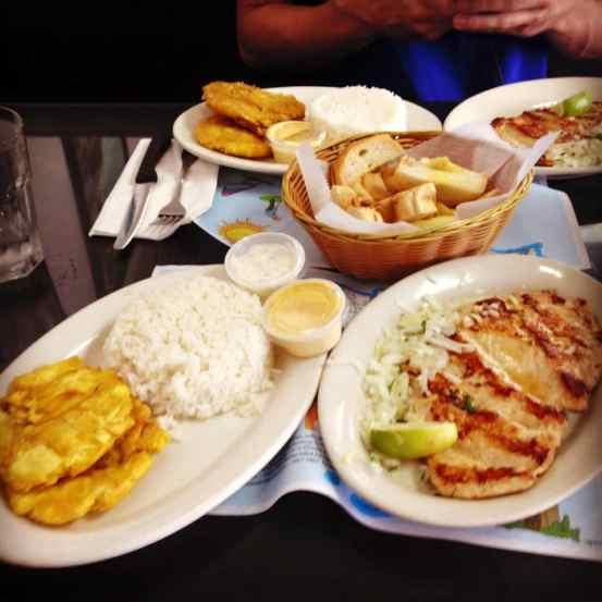 Murdering some Cuban food in Miami.