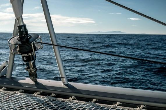 Sighting land at sea