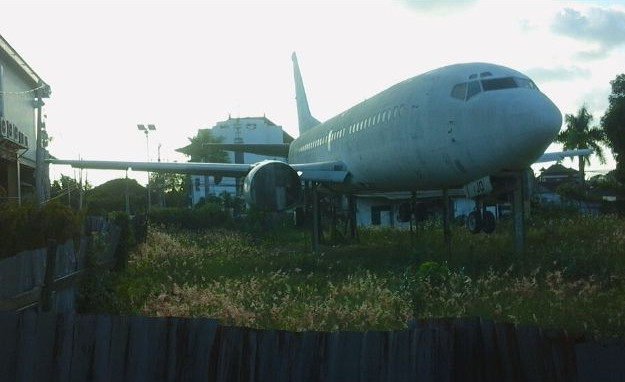 First abandoned airplane in Bali