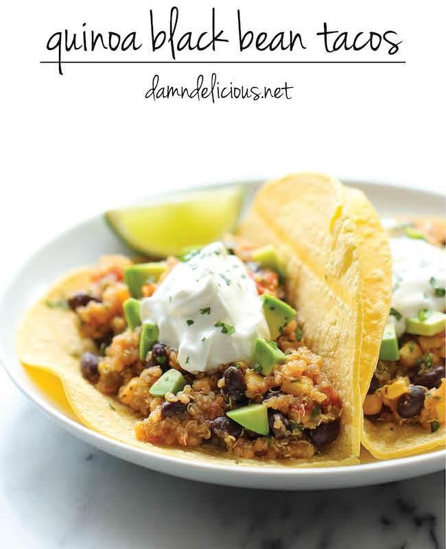 Quinoa Black Bean Tacos by Damn Delicious