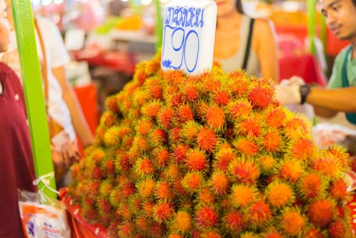 thailand, bangkok, market, rambutan