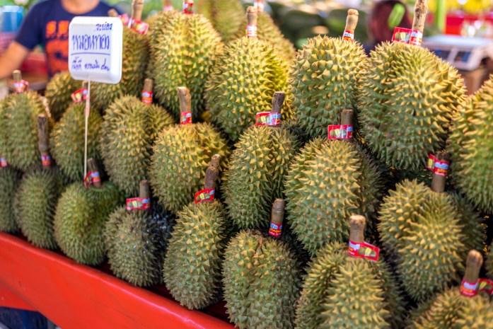 thailand, bangkok, jackfruit, market