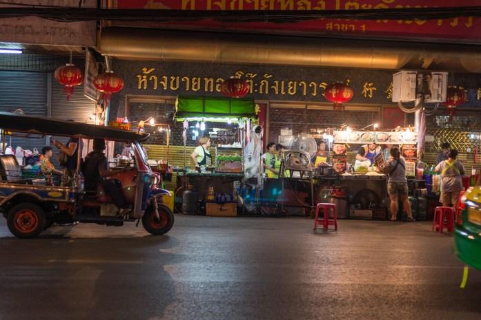 thailand, bangkok, chinatown, street food, tuk tuk