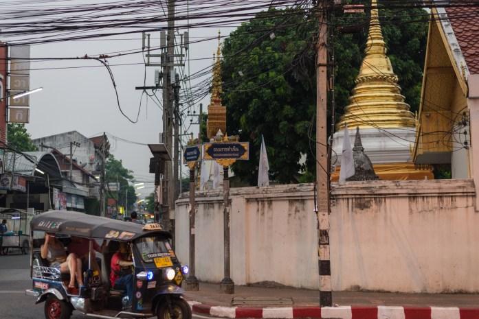 thailand, chiang mai, wat, temple, tuk-tuk