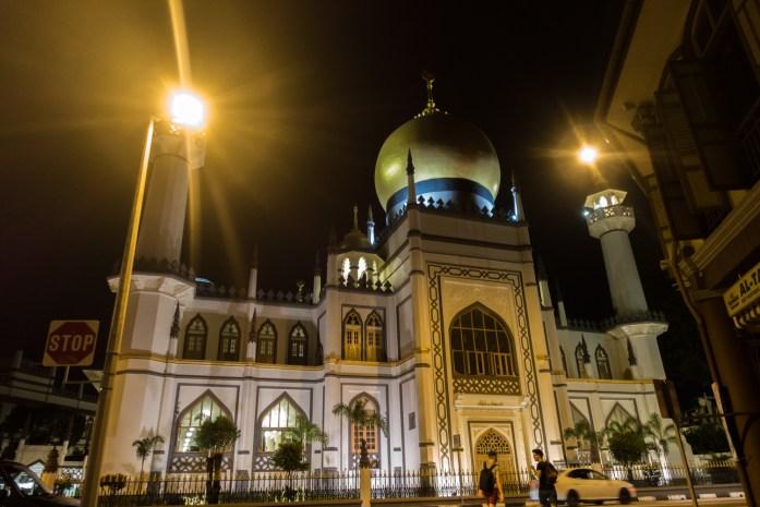 singapore, night view, temple, muslim, islam