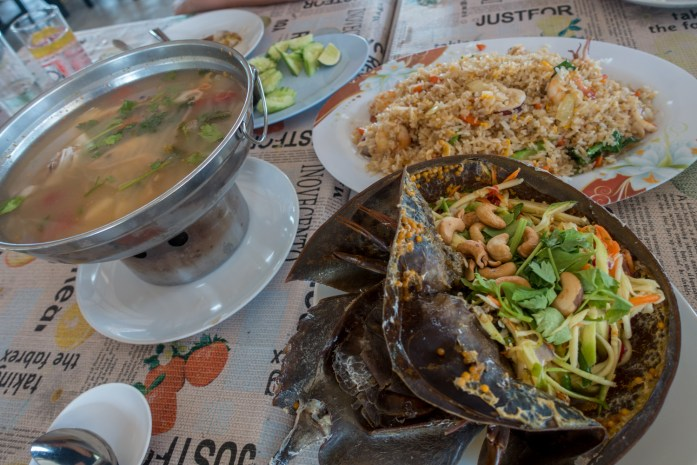 thailand, don sak, surat thani, food, horseshoe crab