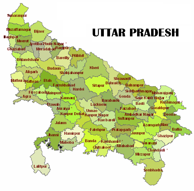 tourist places to visit in uttar pradesh - uttar pradesh map