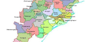 Tourist places to visit in Orissa - Orissa Map