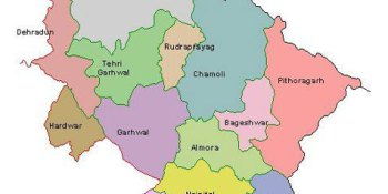 Places to visit in Uttaranchal - Uttaranchal Map