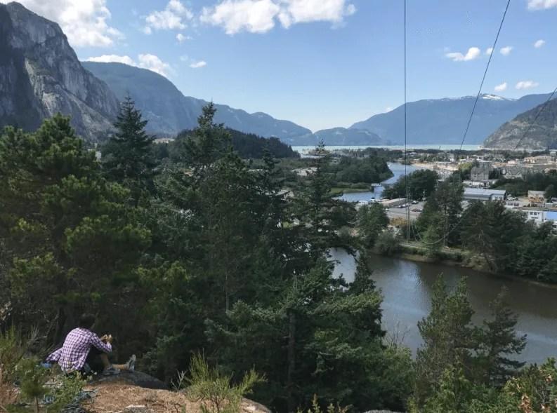 Rock climbing Smoke Bluffs, Squamish, Sea to Sky road trip