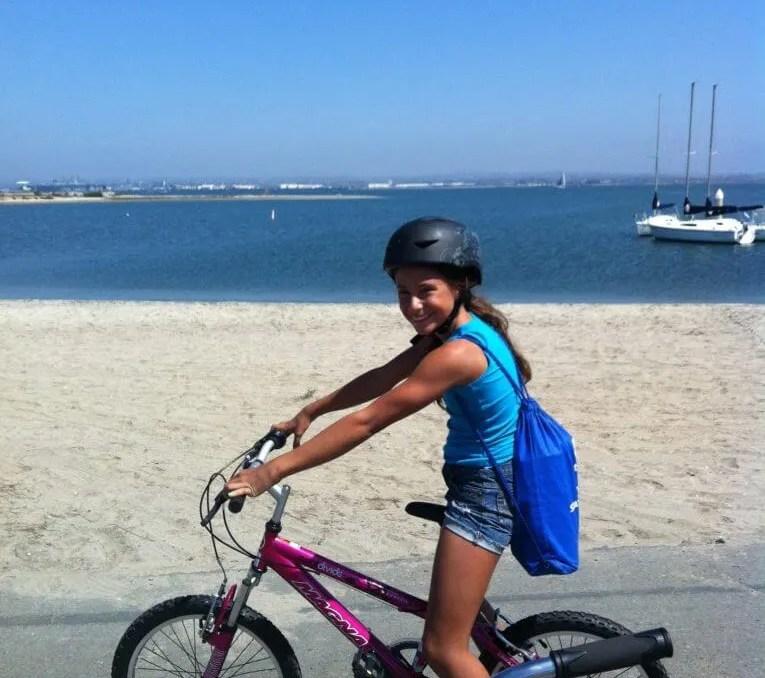 living adventurous life, Gabi biking Coronado