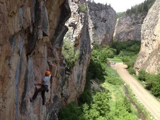 Glenwood Canyon climbing. Colorado Road Trip Itinerary