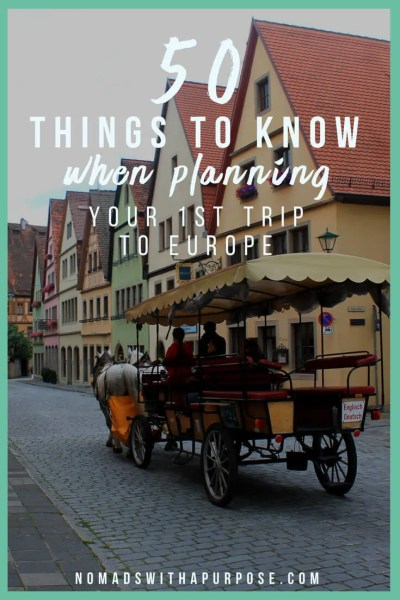 50 things to know when planning your 1st trip to Europe