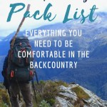 Backpacking pack list: Essential Gear for Beginners