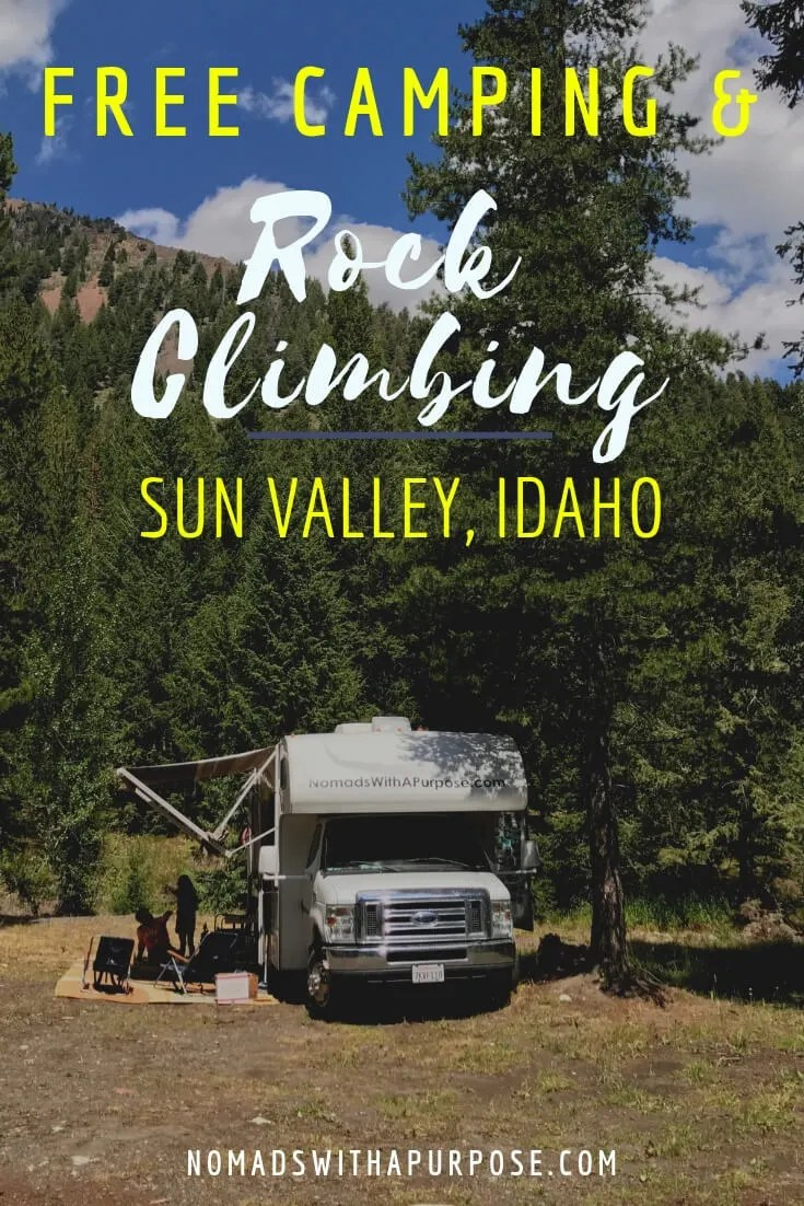free camping and rock climbing in sun valley, Idaho