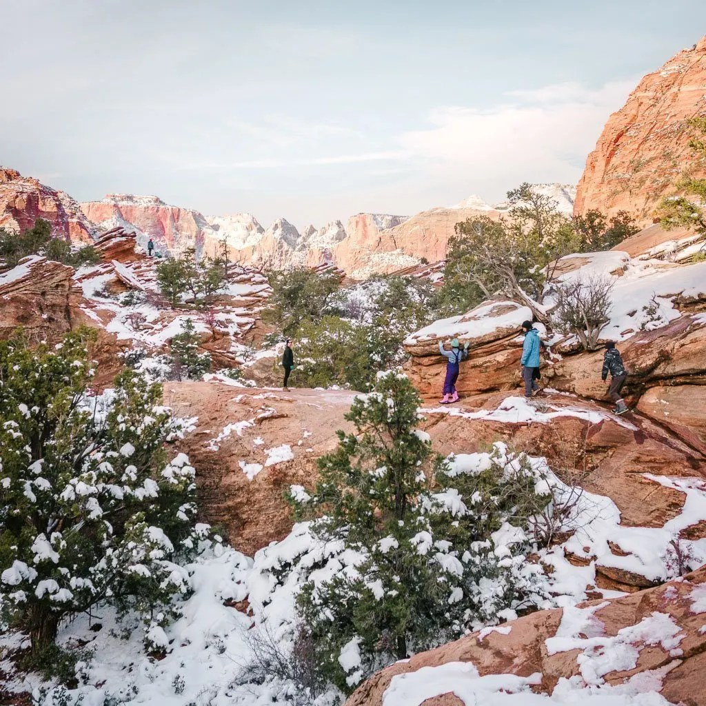 solitude in Zion National Park in Winter