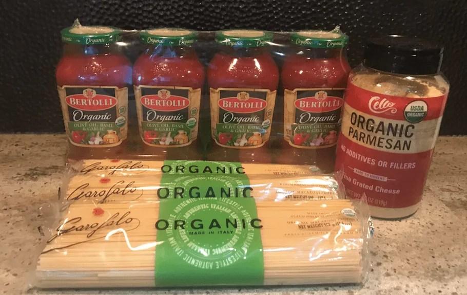 Shop healthy at Costco spaghetti