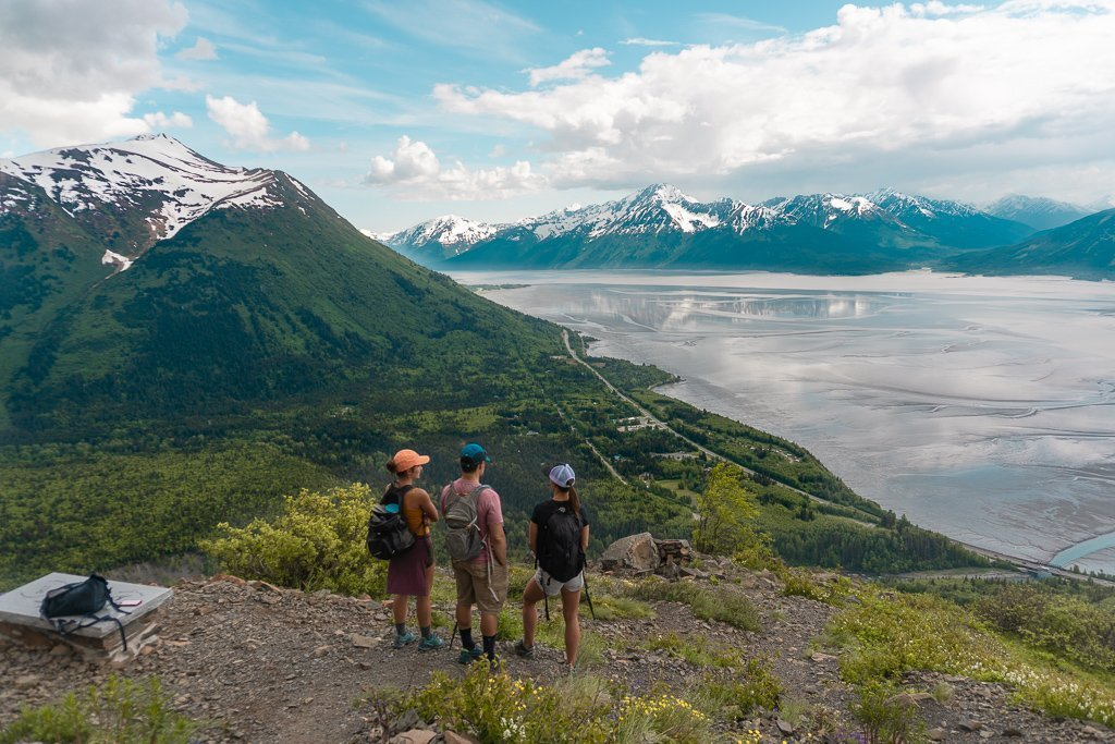 Bird Ridge trail on Seward Highway near Anchorage, Alaska