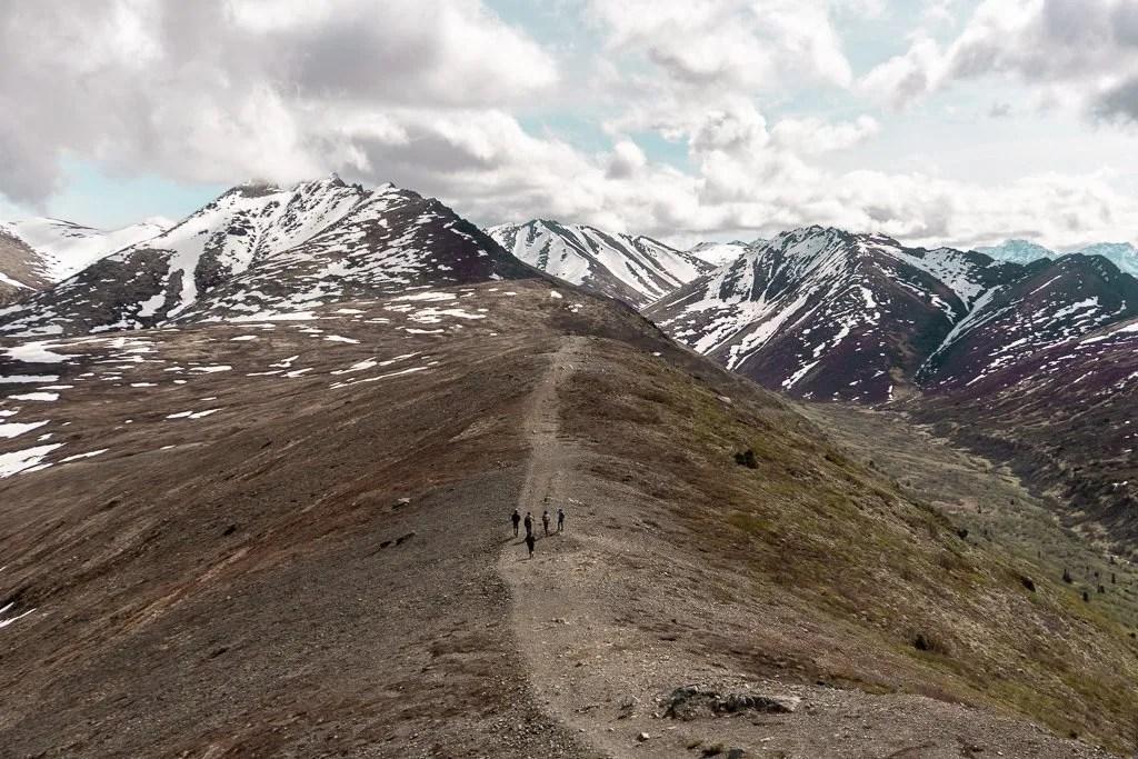 summiting Mount Baldy near Anchorage