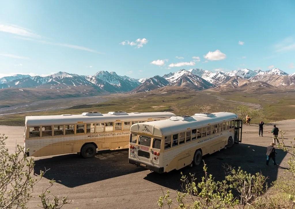 Buses Denali National Park, Hiking and Camping, Alaska