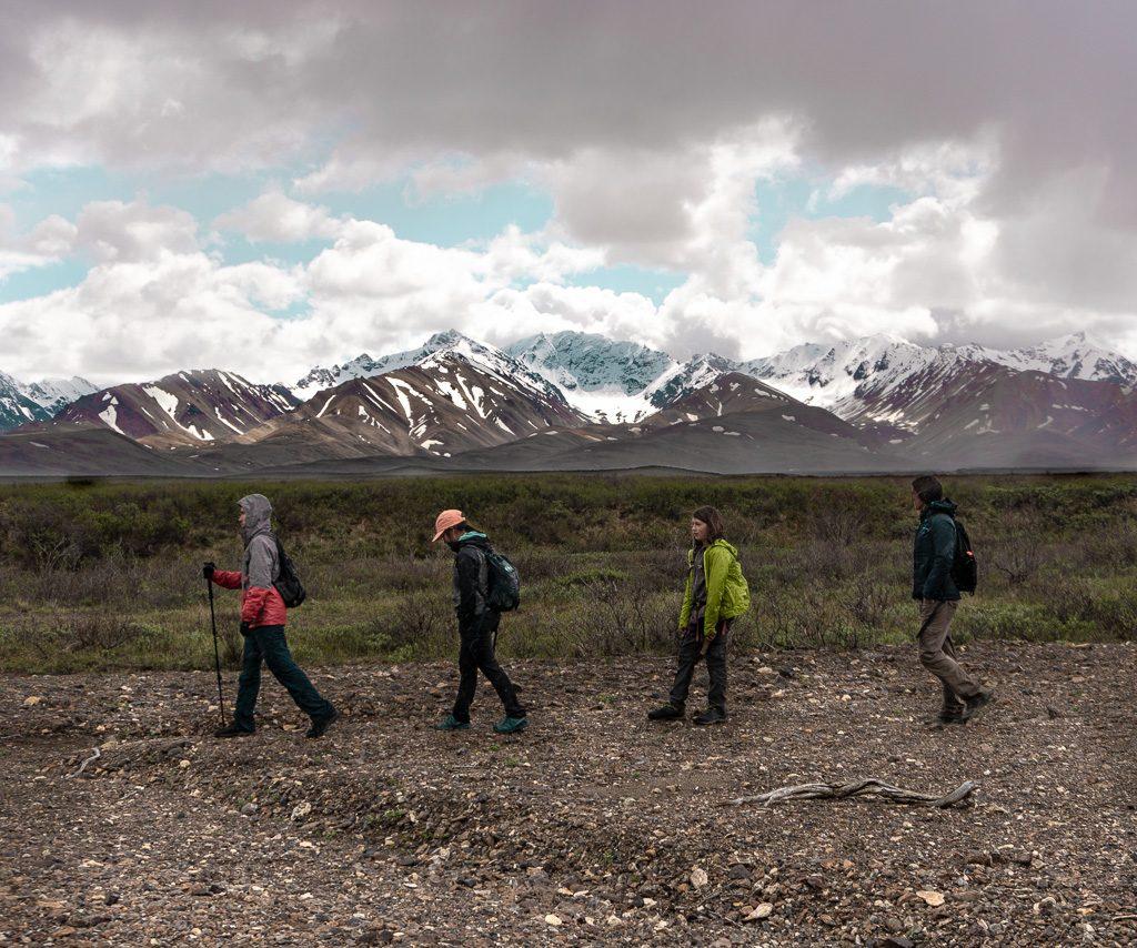 Off trail hiking, Denali National Park, Hiking and Camping, Alaska