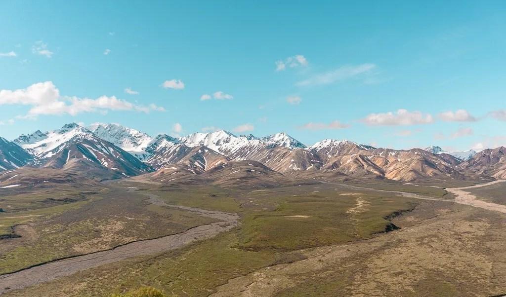 Polychrome Overlook Denali National Park, Hiking and Camping, Alaska