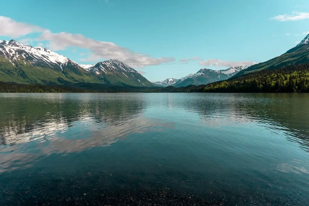 Upper Trail Lake, Moose Pass, free camping, Kenai Peninsula