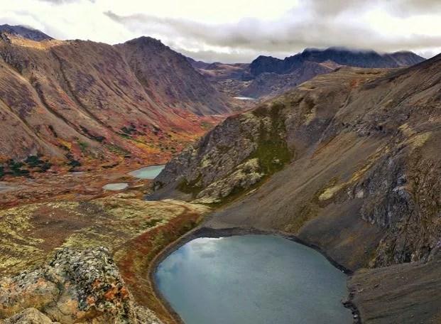 Views form O'Malley Peak, Anchorage
