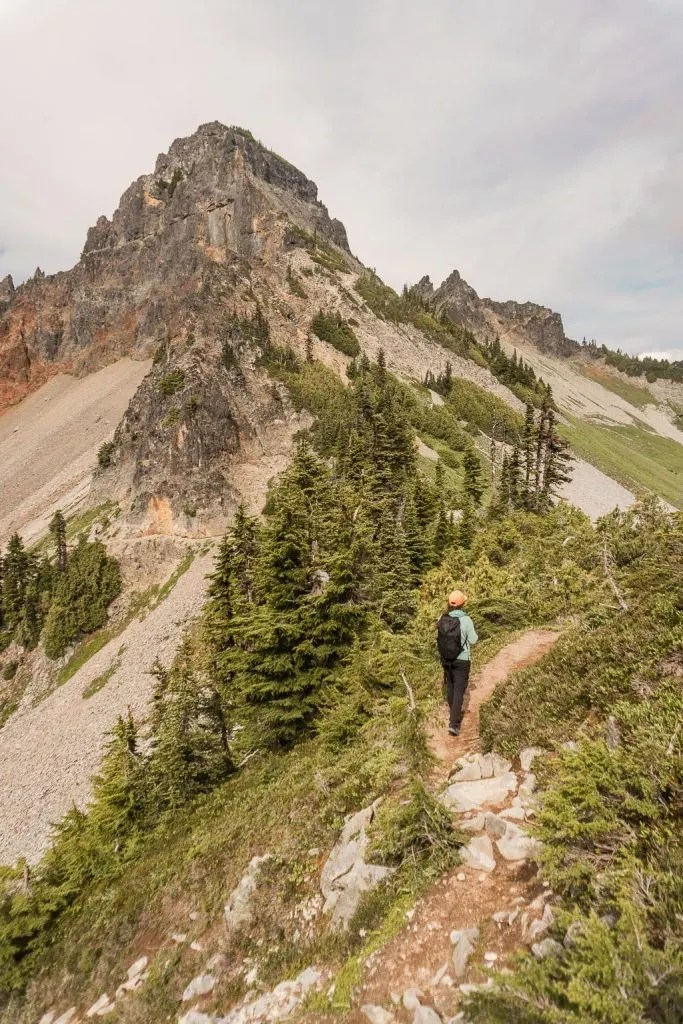 Hiking Pinnacle Peak Mount Rainier NP