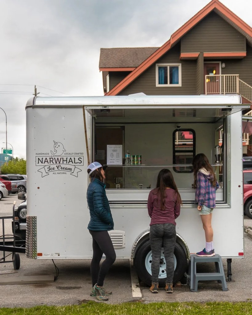 Narwhals ice cream in Squamish, where to eat