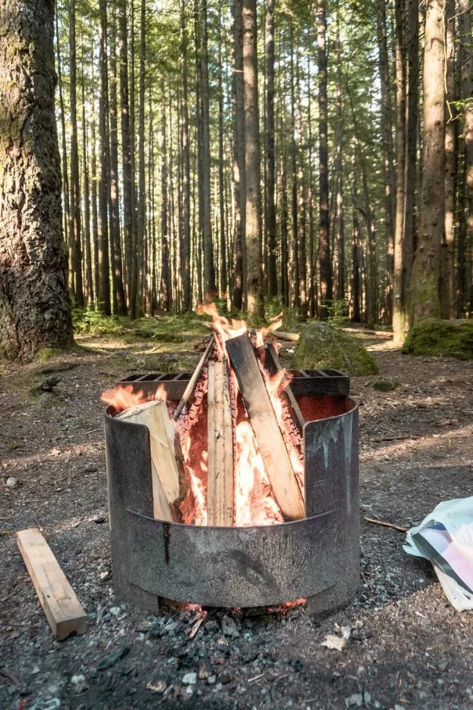 The campground at Alice Lake in Squamish