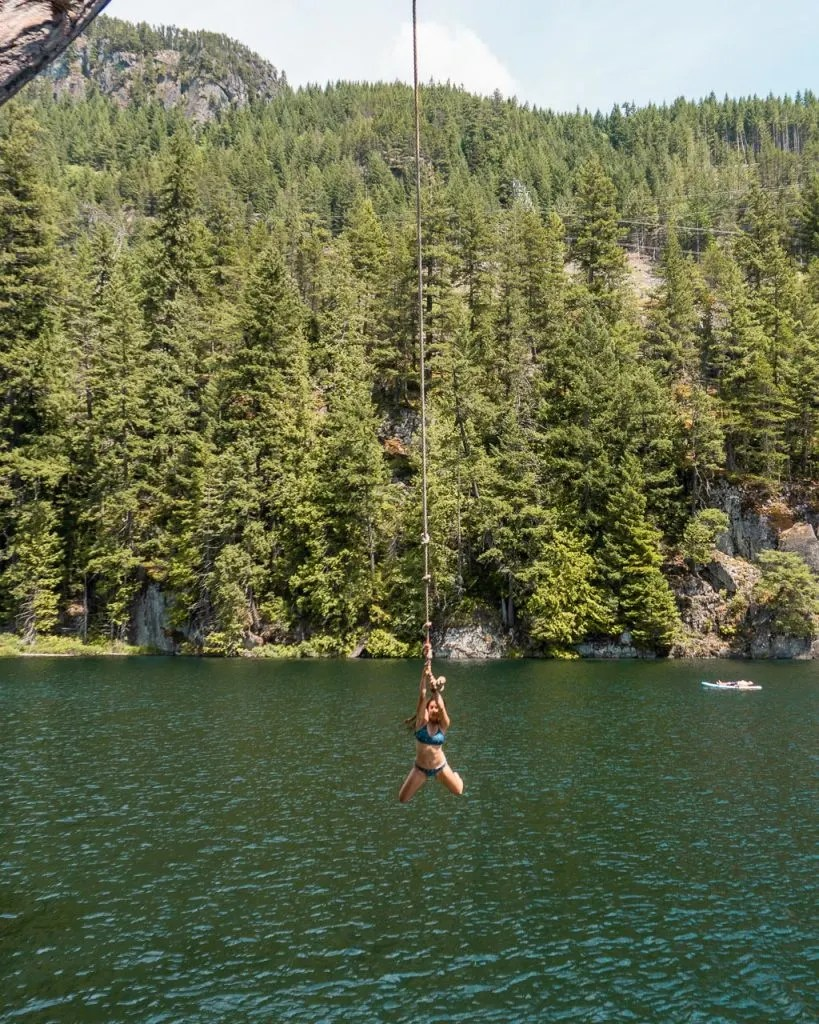 Brohm Rope swing, things to do in Squamish