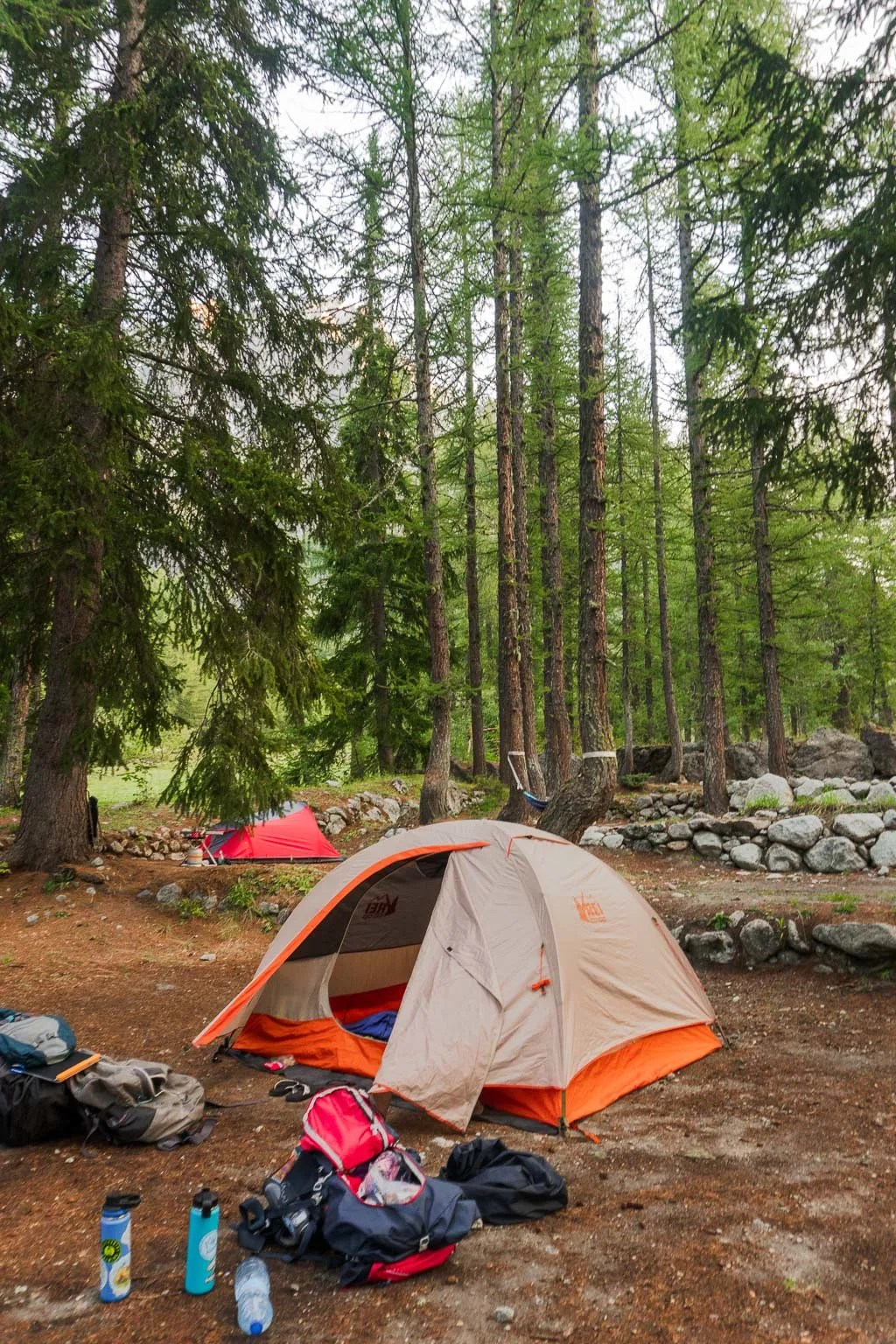 Val Ferret Campgrounds, Italy, TMB