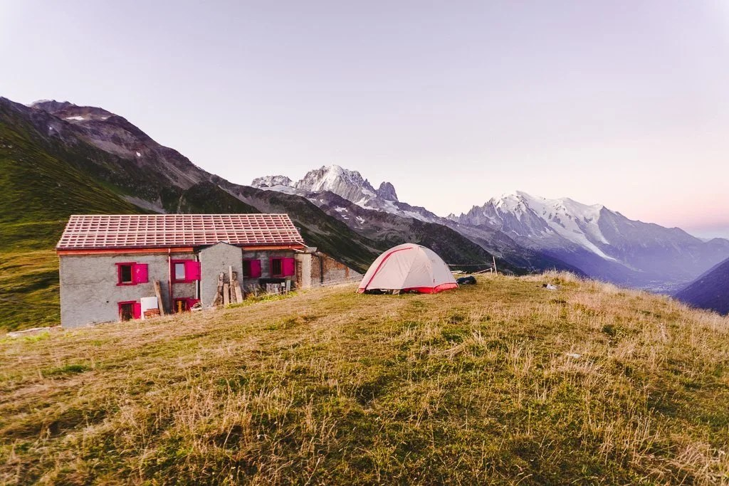 Col de Balme camping and refuge, Tour du mont blanc