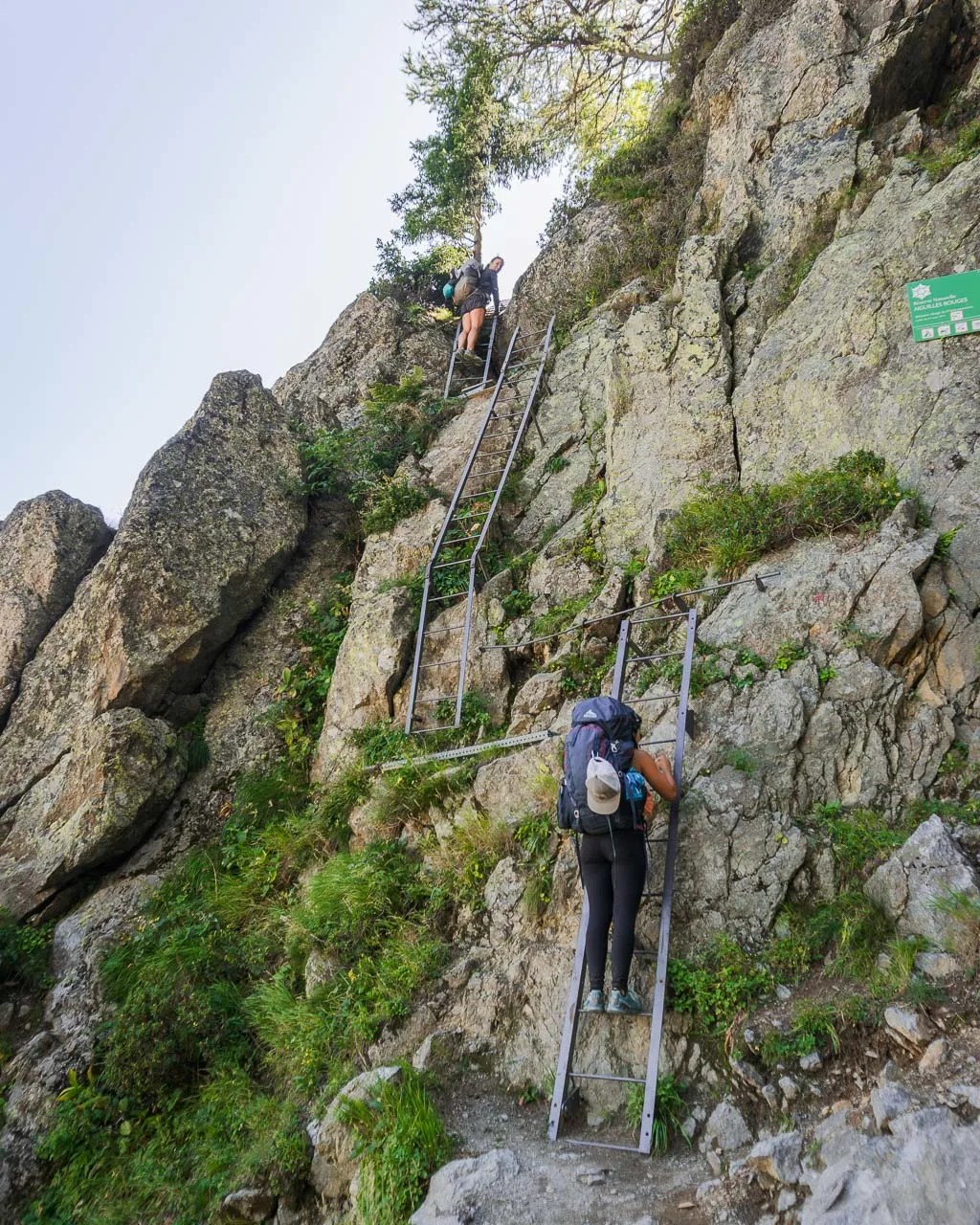 ladders to Lac Blanc, Tour du mont blanc stage 10, French alps