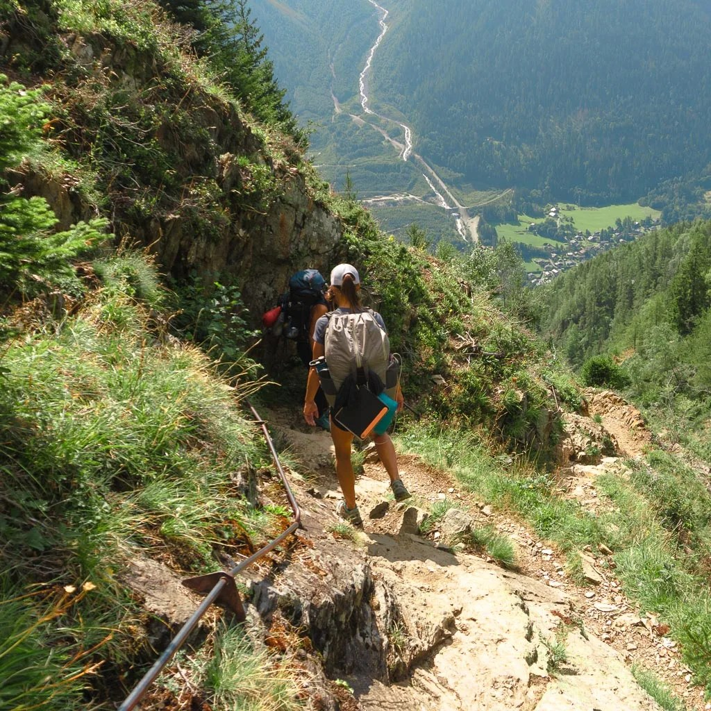 Stage 11 descent from Bellachat to Les Houches, TMB