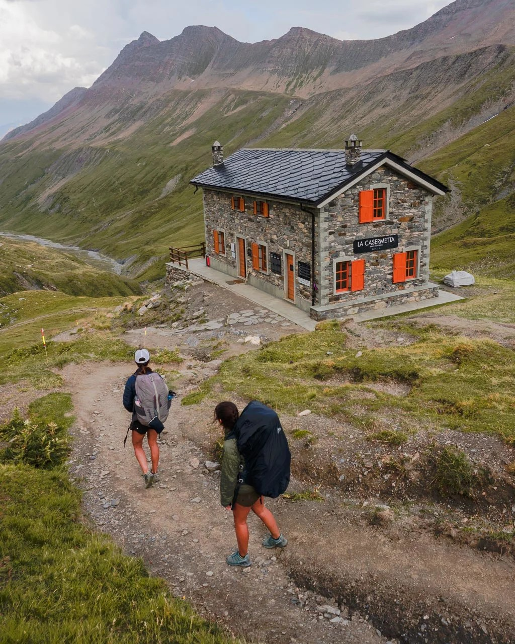 stage 3 of Tour du Mont Blanc to Refuge Elisabetta
