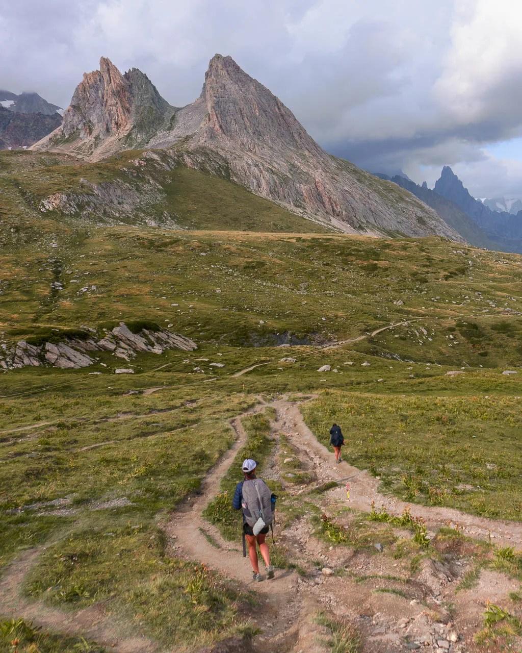 stage 3 of Tour du Mont Blanc to Refuge Elisabetta