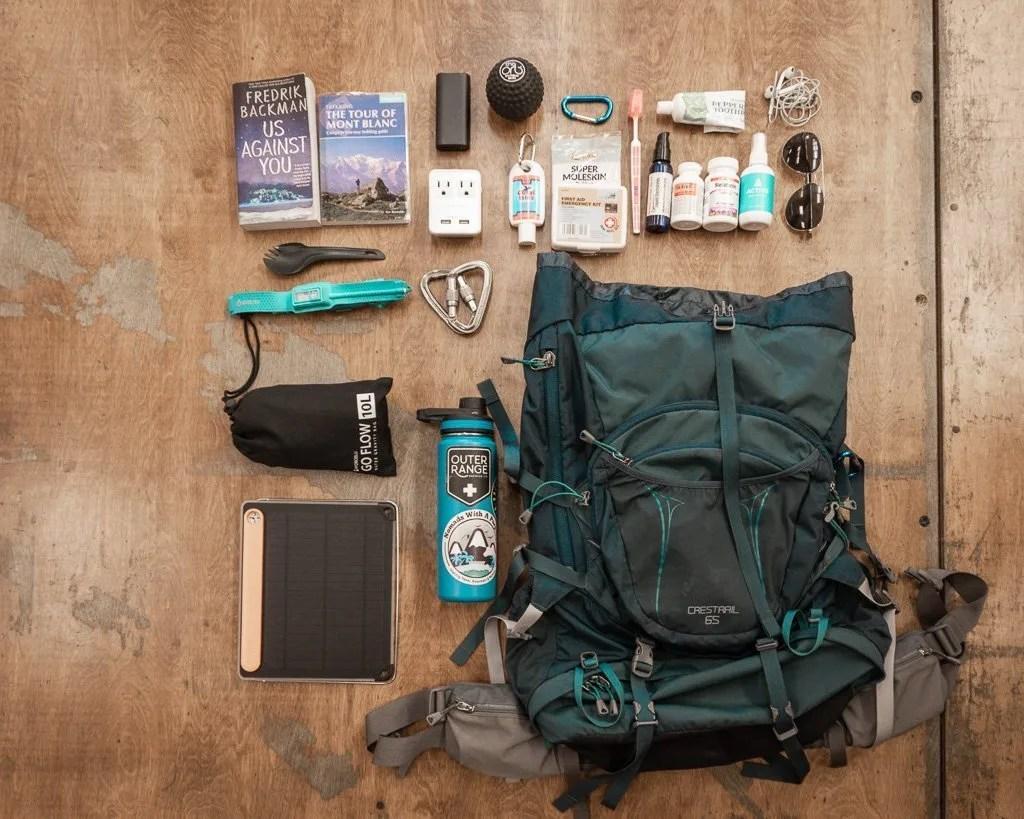 Tour du Mont Blanc Packing list