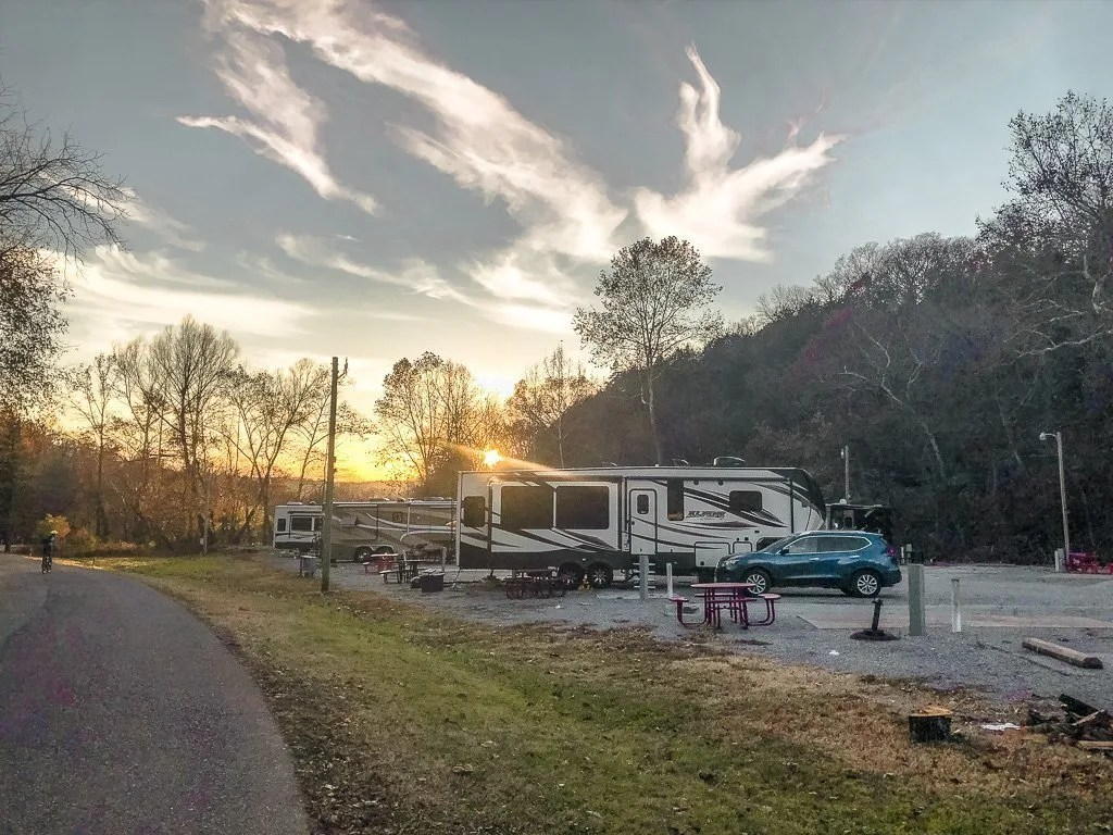 Blowing Springs campground in Bentonville Arkansas