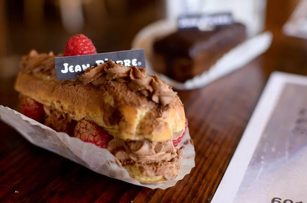 Eclairs at Jean Pierre Bakery in Durango