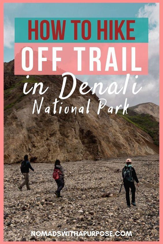 hike off trail Denali pin