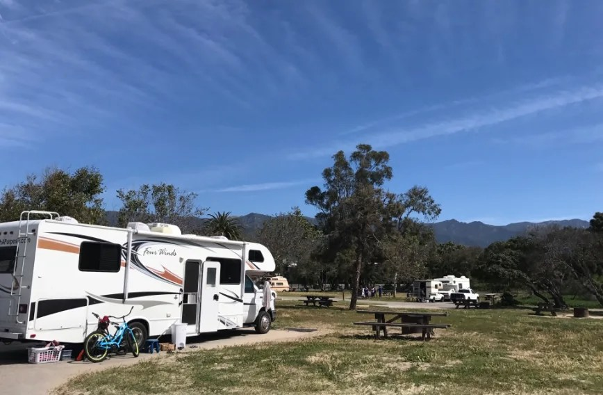 Carpinteria state beach, best campgrounds california